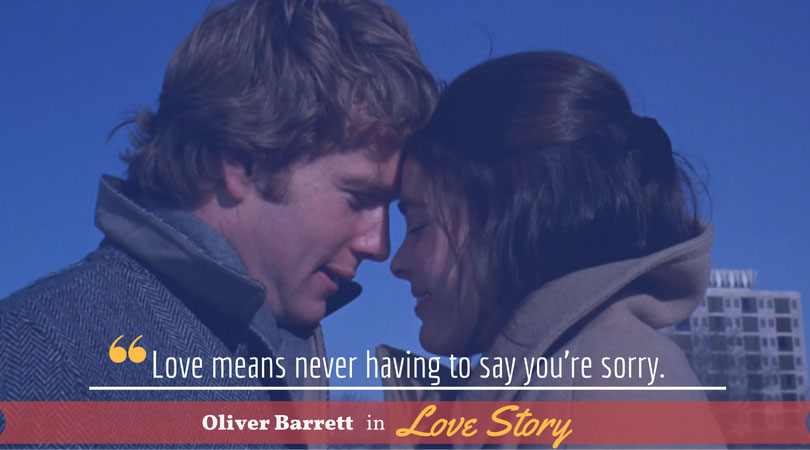 Oliver Barrett, Love Story, Movie Quotes